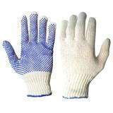 guantes de algodon moteados