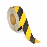 cinta antideslizante negra y amarilla